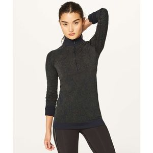 Lululemon Rest Less Half Zip Jacket Black Armory 2